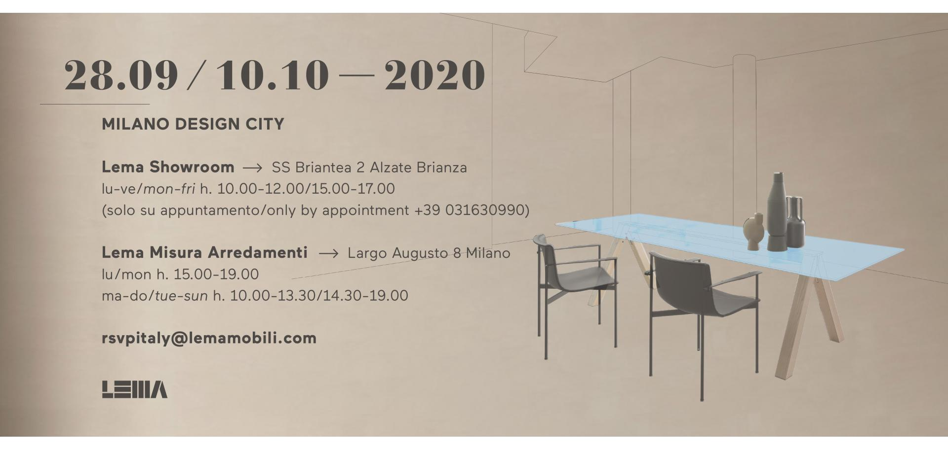 Lema@Milano Design City 2020