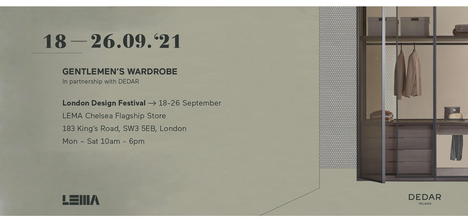 LEMA @ LONDON DESIGN FESTIVAL 2021
